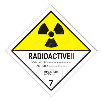 8.032 IMPA 33.2218 Class 7, Radioactive category 2 250x250mm