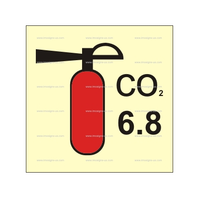 3.045.17 CO2 Fire Extinguisher 6.8 kg 150х150mm
