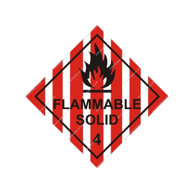 8.047 IMPA 33.2210 Class 4, Flammable solid 250x250mm