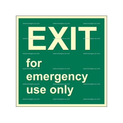 2.118 IMPA 33.4384 Exit for emergency use only 150x150mm