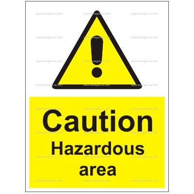 6.011.37 IMPA 33.7655 Caution Hazardous Area 200x150mm