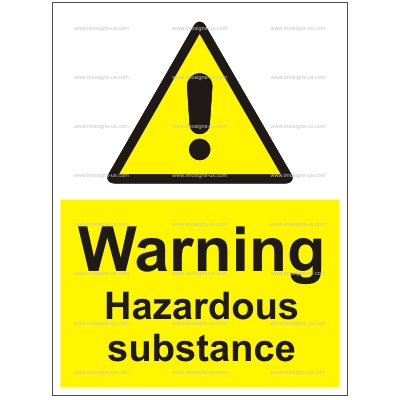 6.011.40 IMPA 33.7666 Warning Hazardous substance 200x150mm