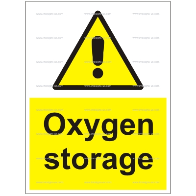 6.015.2 Oxygen storage 200x150mm white vinyl