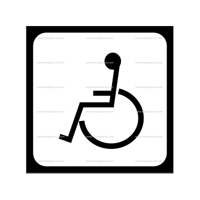 12.059 33.2940 Disabled symbol 150x150mm