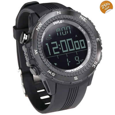 Pyle® Digital Multifunction Active Sports Watch Black