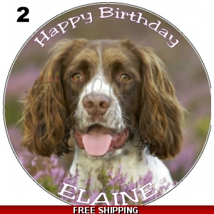 Spaniel Dog Edible Cake Topper