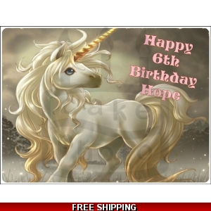 Unicorn Fantasy Edible Cake Topper