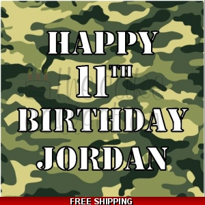 Army Camouflage Edible Cake Topper