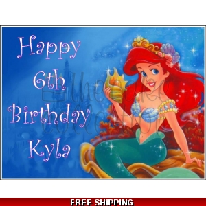 Ariel Little Mermaid Disney Princess Edible Cake Topper