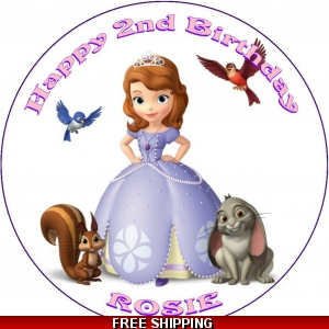 Sofia The First Disney Princess Edible Cake Topper
