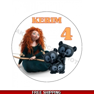 Brave's Merida Disney Princess Edible Cake Topper