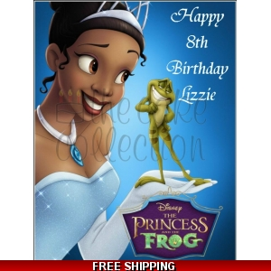 Tiana Disney Princess and the Frog Edible Cake Topper