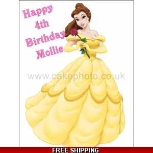Belle Disney Princess Edible Cake Topper