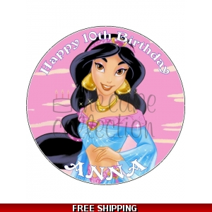 Jasmine Disney Princess Edible Cake Topper