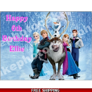 Disney Frozen Characters Edible Cake Topper