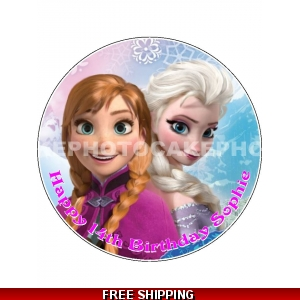 Disney Frozen Elsa and Anna Edible Cake Topper