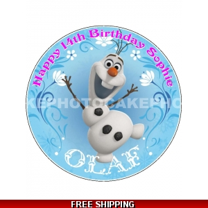 Disney Frozen Olaf the Snowman Edible Cake Topper