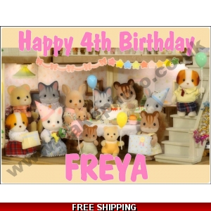 Sylvanian Families Party Edible Cake Topper