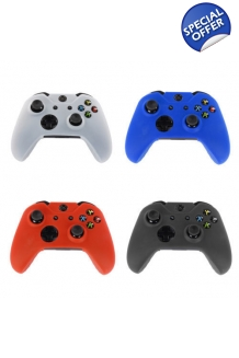 Xbox One Controller Skins In Black,Red,White,Blue & Free Set Of Controller Sti..