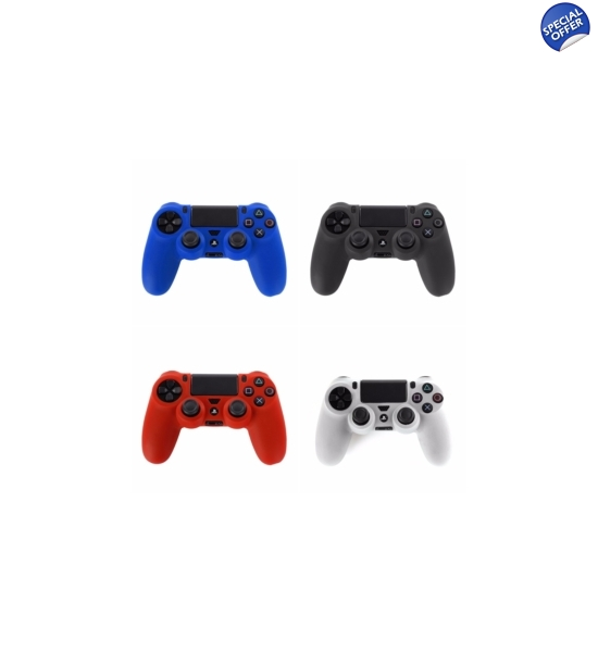 Ps4 Controller Skin Black,Red,White,Blue & Free Set Of Controller Stick Covers