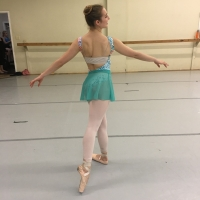 Simple Ballet Skirt in Teal Mesh