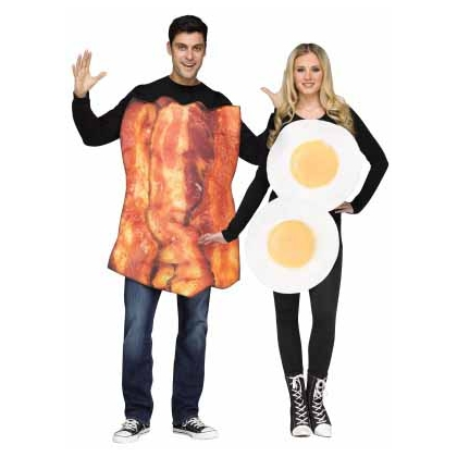 BACON & EGGS ADULT COSTUME 6'/200LBS