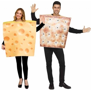 CHEESE & CRACKER COUPLE COSTUME O/S