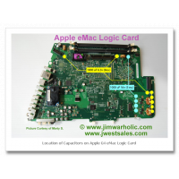 eMac Apple Capacitors Kit for Log..
