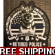 Rubber Retired Police Canine Foundation Patch