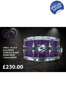 AD Drums Purple & White..