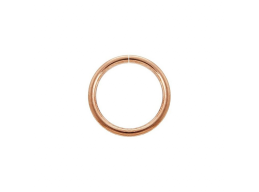 14k Rose Gold-Filled Seamless Nose or Ear Hoop