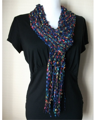 Dark Blue Multi Scarf