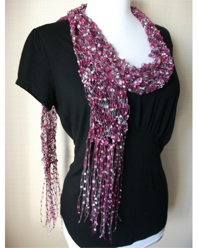 Silver Pink Scarf