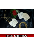 Vinatge/Shabby Chic Wedding Favour Tags with Rustic String