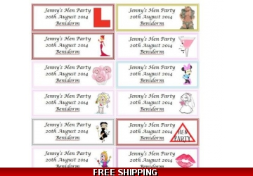 20 x Personalised Hen Party Favour Tags