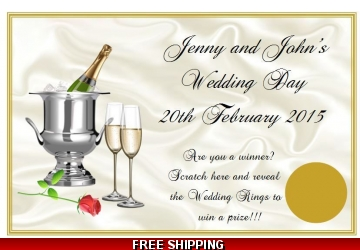 Personalised Wedding Favour Scratch Cards