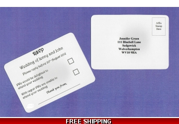 Personalised RSVP Postcards - Pre-addresses