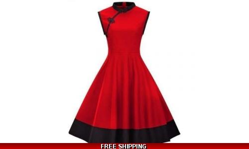 Retro 50s 60s Vintage Plus Size Pin UP Dresses