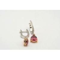 18ct Rhodolite earrings