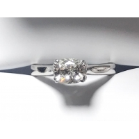 Solitaire Cushion Diamond Ring