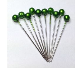 emerald hair pins