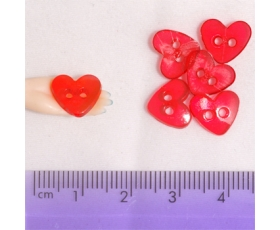 Large Clear Light Red Hearts