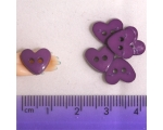 Large Purple Hearts