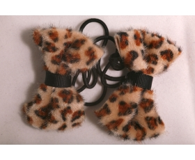 Large Leopard fur Hair Bow