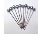pewter hair pins