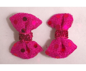 Dark Pink Sparkly Hair Bows