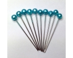 teal hair pins