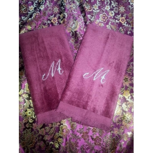 Initial Monogram Guest Towel Set