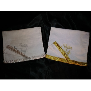 Towels with Silk Brocade Tips