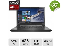 Lenovo G50 AMD A8-6410 Quad Core 6GB 1TB 15.6 La..